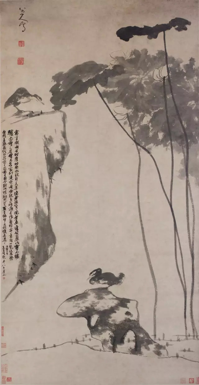 朱耷《荷凫图》弗利尔美术馆藏