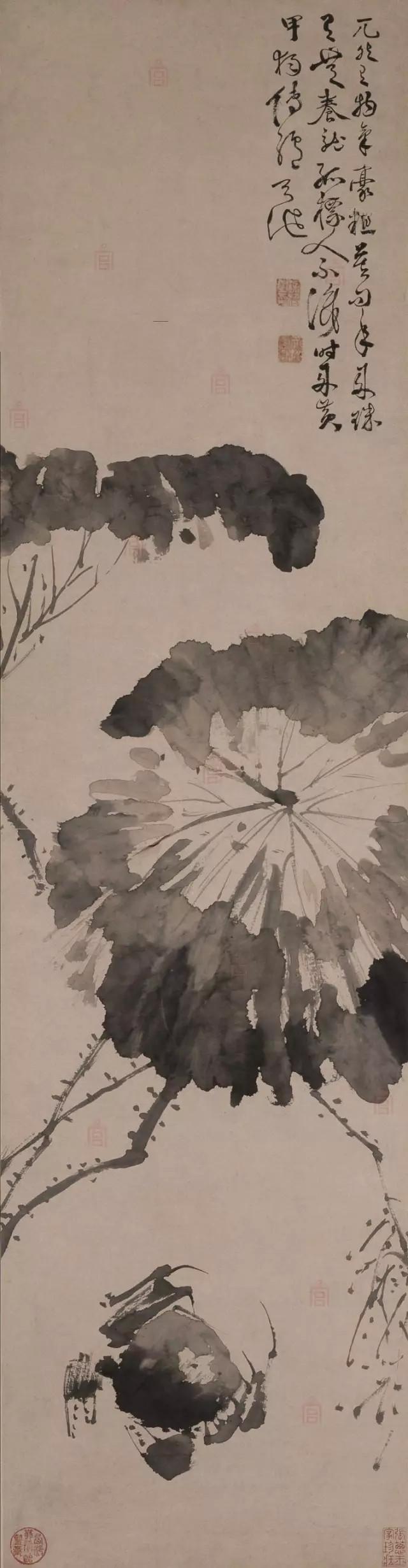 徐渭 黄甲图 纸本墨笔 114.6×29.7cm 北京故宫博物院藏