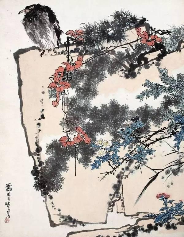 潘天寿花鸟画的布置