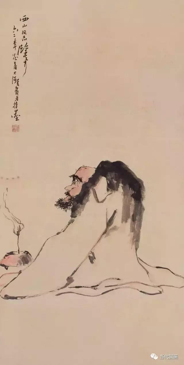 看潘天寿作画,听其谈画,方知用笔为何老辣!