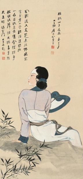 张大千 纨扇仕女 1939年