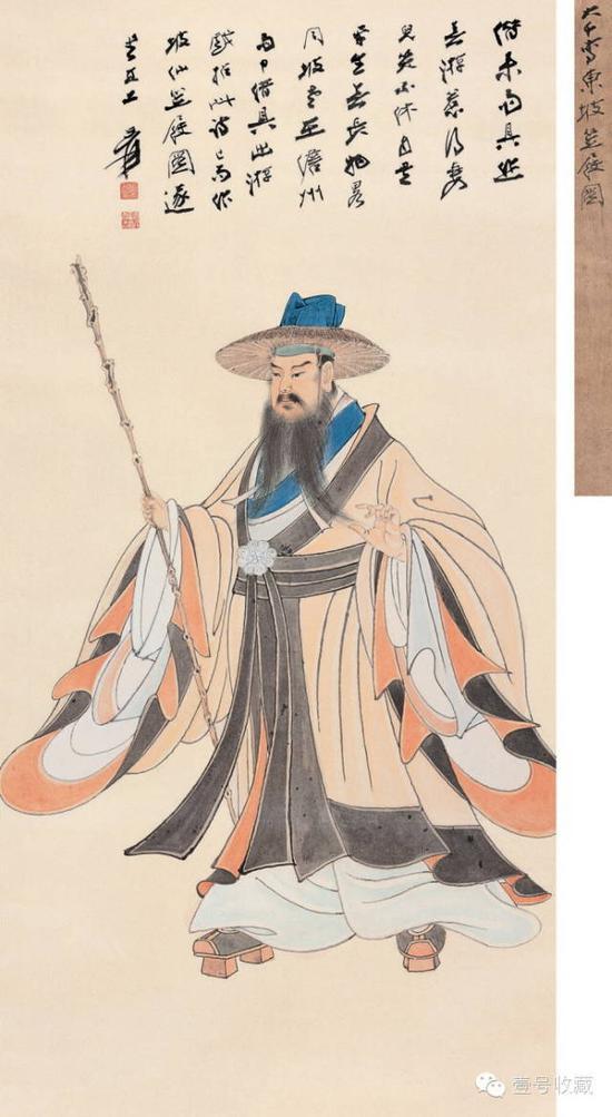 坡仙笠屐图