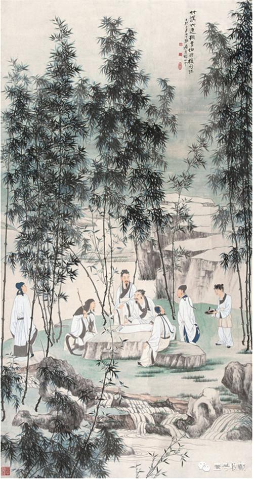 1939年作 竹溪六逸图