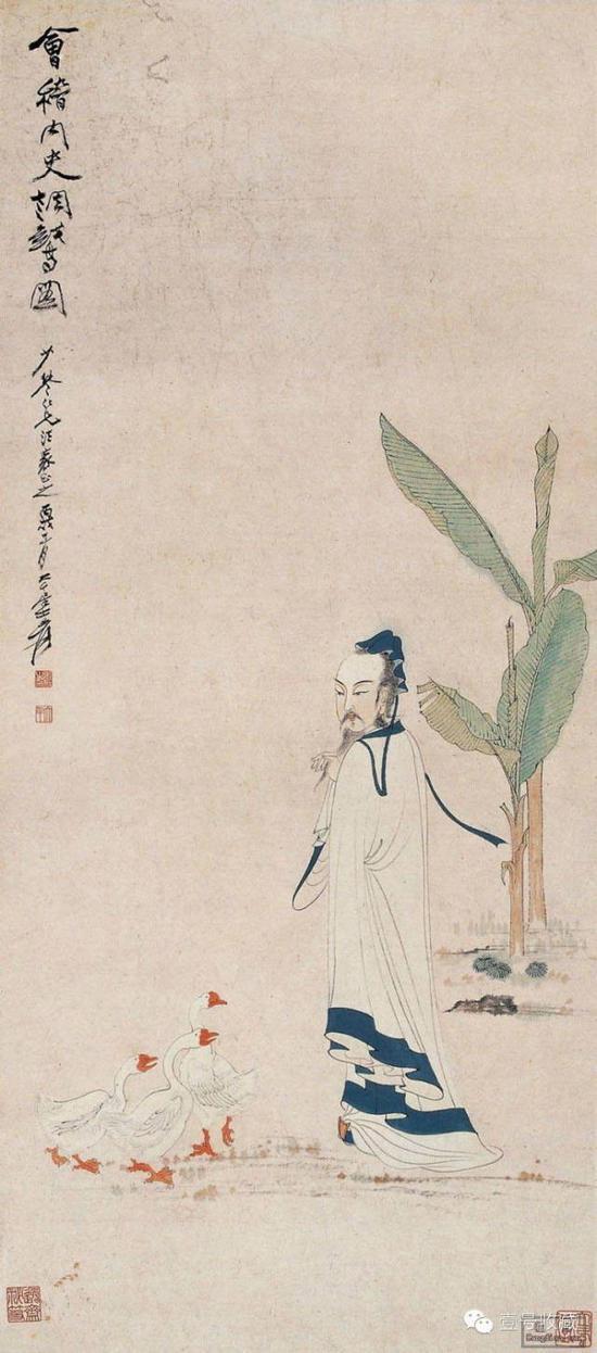 王羲之调鹅图