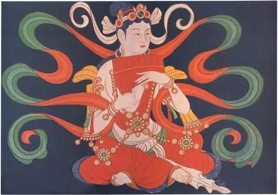 宋画 伎乐菩萨像2