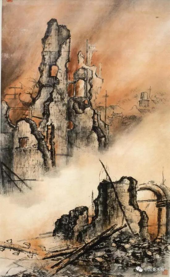 东战场的烈焰  高剑父  1932年  广州艺术博物院藏