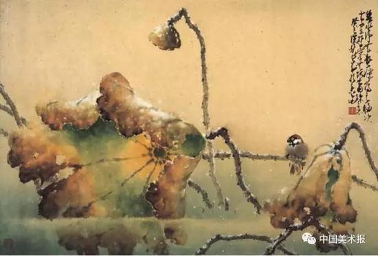 碧水净无尘  赵少昂  中国画  69×103cm  1953年  广州艺术博物院藏