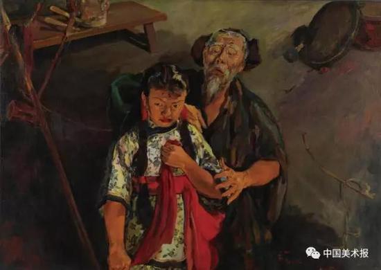 放下你的辫子  司徒乔  油画  125×178cm  1940年  中国美术馆藏