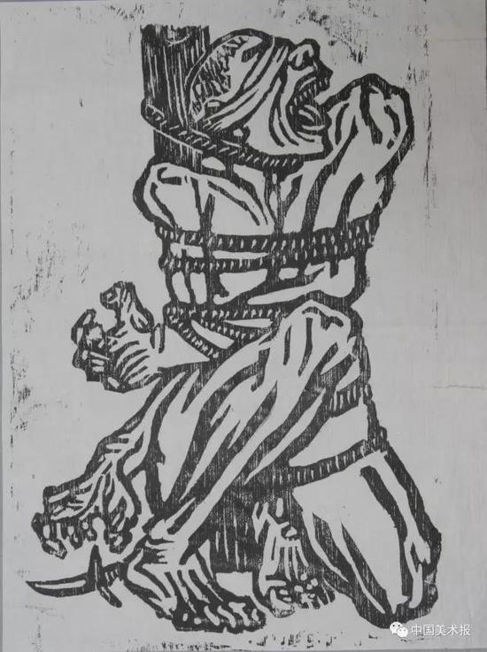 怒吼吧!中国  李桦  版画  1935年  华茂美术馆藏