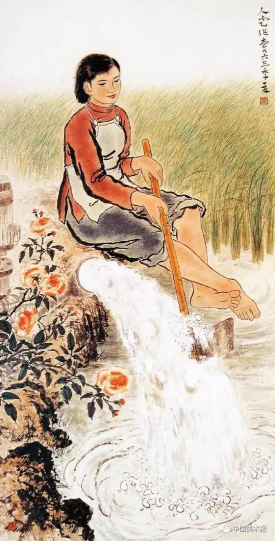 旱年不旱  方人定      中国画  164cm×83cm  1963年    中国美术馆藏