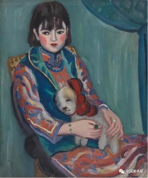 少女像 关紫兰  油画  72.5×60.5cm  1929年  中国美术馆藏