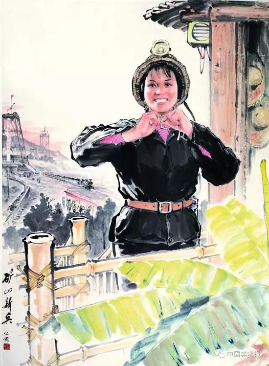 矿山新兵  杨之光  国画  1971年  中国美术馆藏