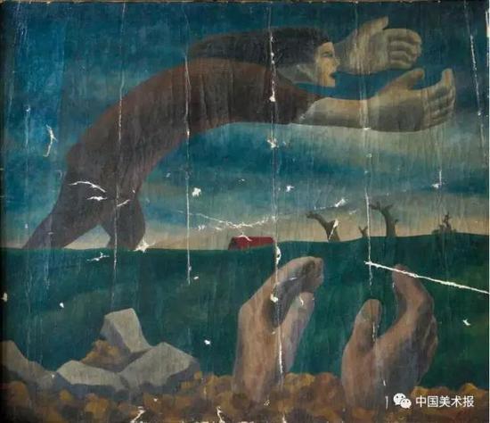 种子  黄新波  油画  61×69.5cm  1947年