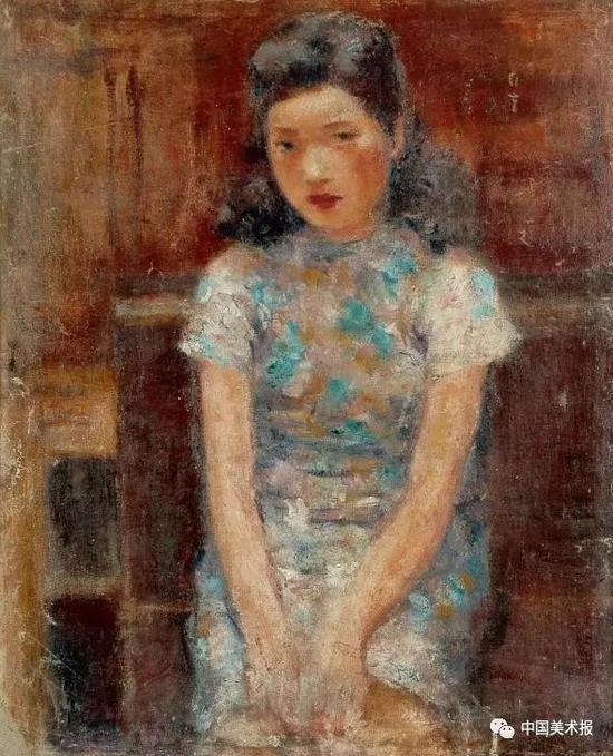 郭玉玲像 王道源  油画 74×60.5cm  1946年