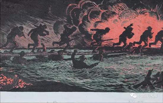 人桥  古元  版画  1948年  古元美术馆藏