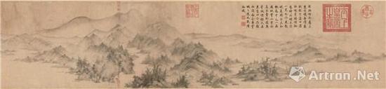 南宋李生《潇湘卧游图卷》(今藏东京国立博物馆)