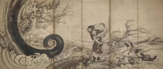 《风仙图屏风》,江戸时代(1764年左右),曾我萧白