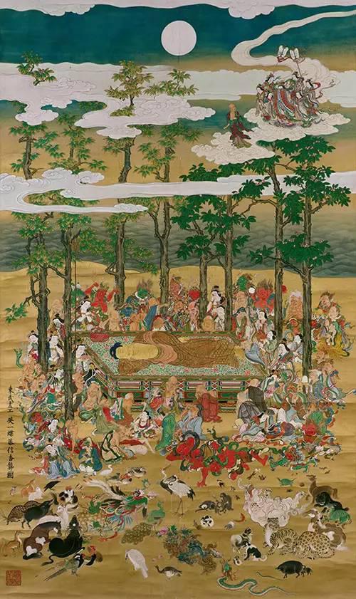 《涅槃图》,江戸时代正徳三年(1713年),英一蝶