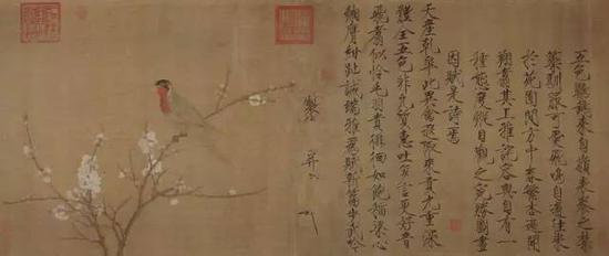 《五色鹦鹉图卷》,北宋(12世纪初期),宋徽宗赵佶