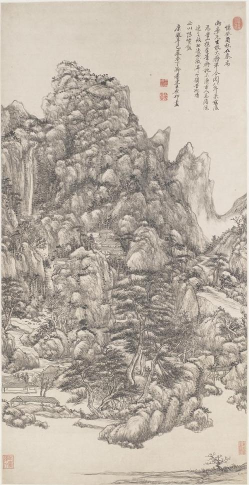 上博藏王原祁题画手稿真迹,300年来首次原大彩印公布