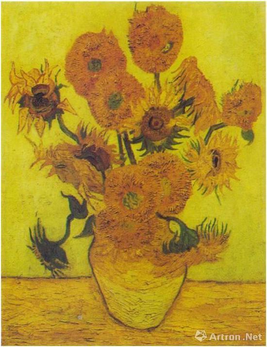花瓶里的十四朵向日葵(又名:十五朵向日葵)