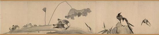 牧溪《水墨写生图》卷纸本 故宫博物院藏