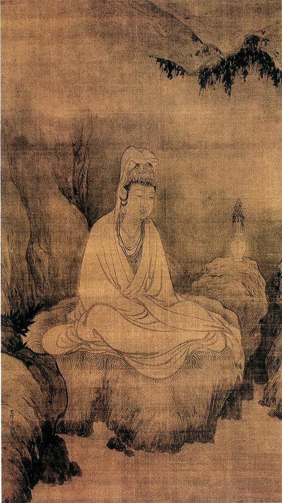牧溪《观音图》绢本 日本京都大德寺藏
