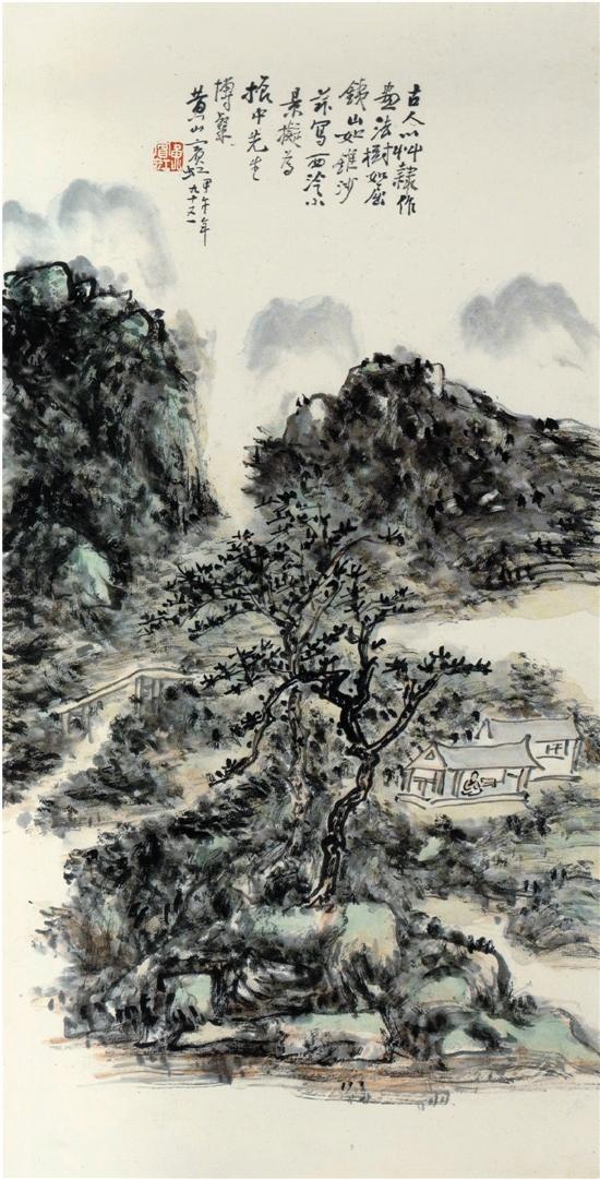 黄宾虹西泠小景中国画