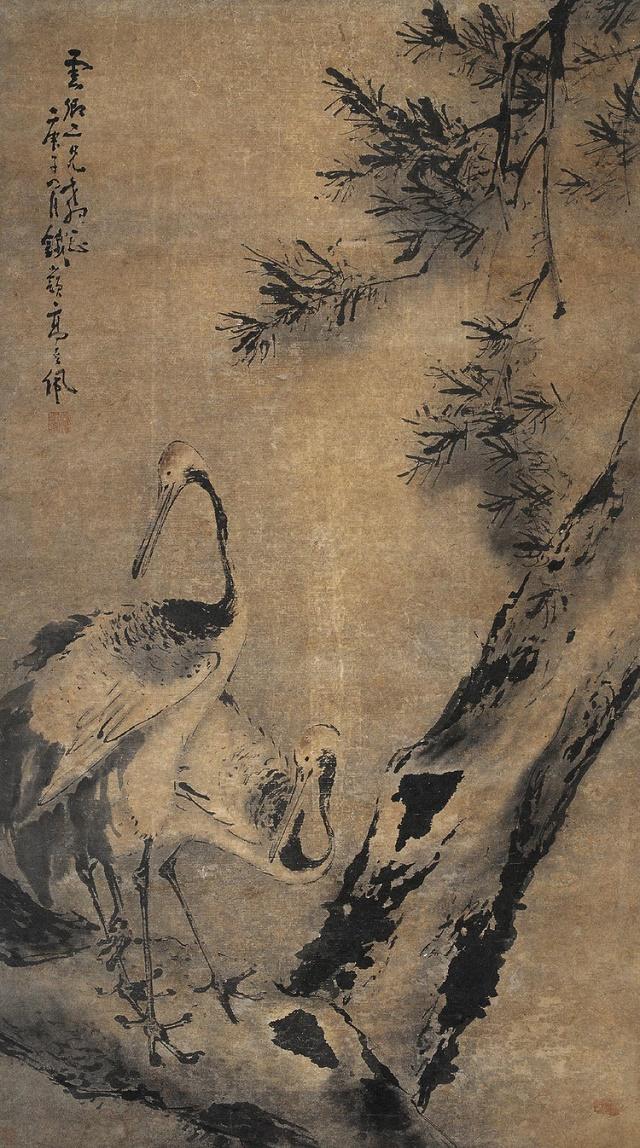 指画开山鼻祖高其佩的花鸟画:苍浑沉厚,清奇高古