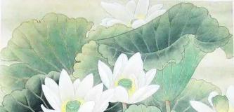 亭亭玉立,一尘不染:画家以这些品格自喻自督,创作大量