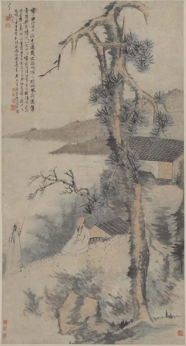 """石涛八大合作绘画意外现""""三胞"""""""